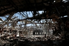 More than 140 people were killed in the airstrike on a funeral hall in Sanaa. Picture / AP
