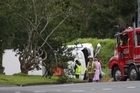 Emergency services attend a crash on Gray Avenue in Otahuhu Photo/Nick Reed