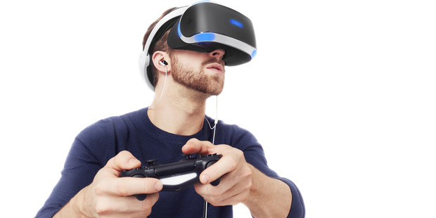 The PSVR headset in action. Photo supplied by Sony.