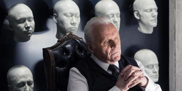 Loading Anthony Hopkins in Westworld.