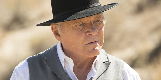 Anthony Hopkins as Dr Robert Ford in a scene from Westworld.