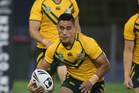 Valentine Holmes in action for the Junior Kangaroos in 2014. Photo / Photosport