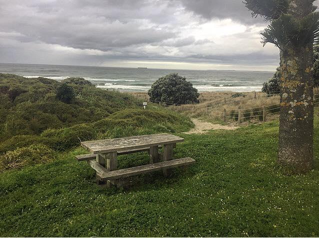 The site where Sarah's table will go. Photo/Brett Morrison