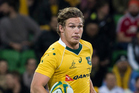 Michael Hooper in action for the Wallabies against England in June. Photo / Photosport