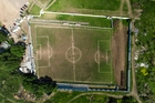 A Google Maps image allowed the Liniers players to see just how distorted their pitch actually was. Picture / AP