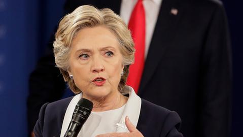 Buoyant Clinton reaching past Trump, wants Democratic Senate