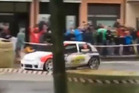 One spectator has died and several more are seriously injured after a car veered off course into a crowd during a rally event in the Republic of San Marino. Photo / Twitter.