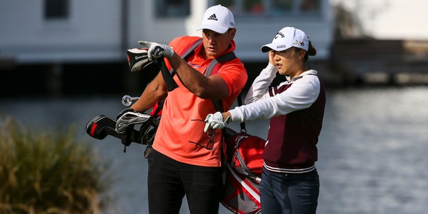 World number one Lydia Ko chats with All Black Israel Dagg. Photo / Supplied