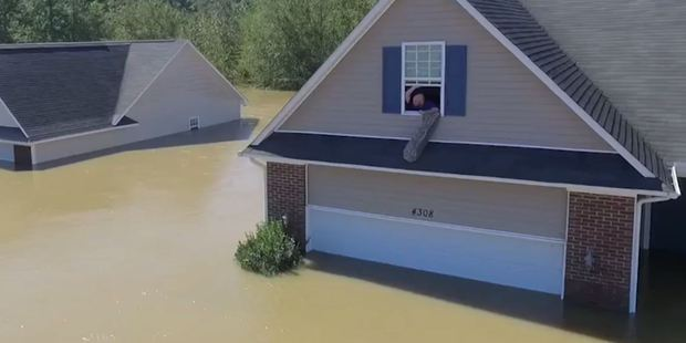 North Carolina resident and drone photographer Quavas Hart has described the weekend's unusual sequence of events that led him to help rescue Chris Williams. Photo / Supplied