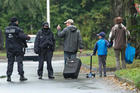 Residents were forced to evacuate their apartments in the eastern city of Chemnitz, Germany. Photo / AP