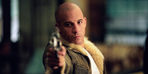American actor Vin Diesel as Xander Cage in a scene from the film 'xXx', 2002. Photo / Getty