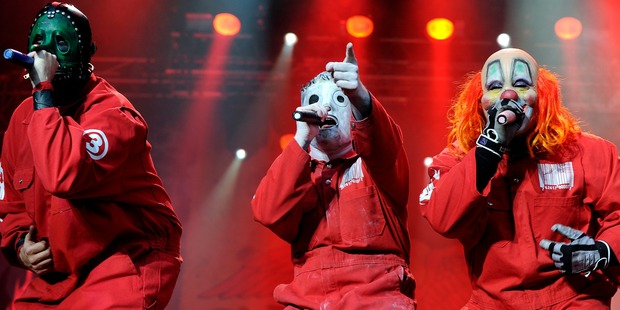 Slipknot performs on stage at the Soundwave Music Festival at Sydney Olympic Park on 26th February 2012 in Sydney, Australia. Photo / Getty