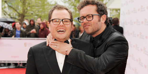 Alan Carr and his fiance. Photo / Getty
