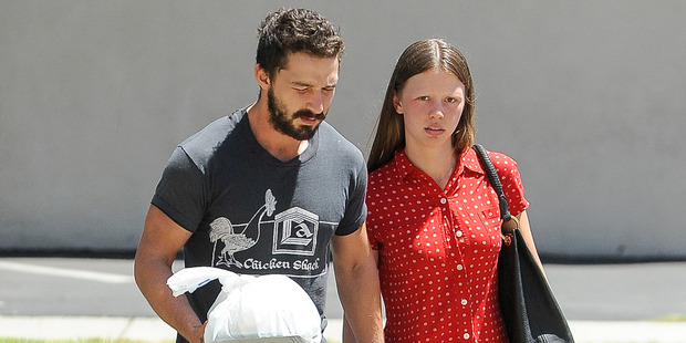 Shia LeBeouf and Mia Goth are seen on August 18, 2014 in Los Angeles, California. Photo / Getty