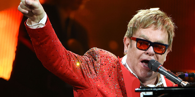 Elton John performs on Dick Clark's New Year's Rockin' Eve with Ryan Seacrest 2015 on December 31, 2014 in New York City. Photo / Getty