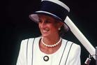 Princess Diana in a Tomasz Starzewski designed dress in 1995. Photo / Getty Images