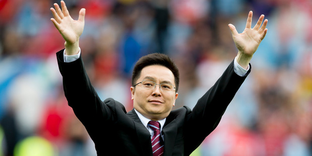 Aston Villa chairman Dr Tony Xia. Photo / Getty Images