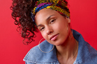 Alicia Keys rocking a natural face look. Photo / Getty