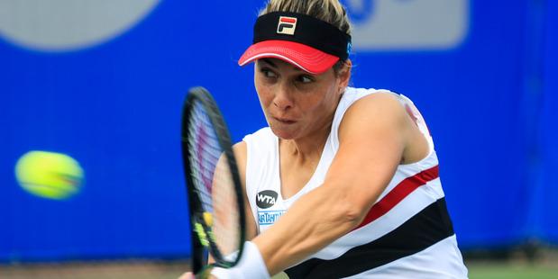 Marina Erakovic returns a shot against Louisa Chirico. Photo / Getty Images