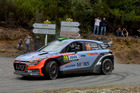 Hayden Paddon during Day Two of the WRC France. Photo / Getty Images