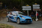 Mads Ostberg during Day Two of the WRC France. Photo / Getty Images