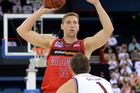 Shawn Redhage looks to pass against the Brisbane Bullets. Photo / Getty Images