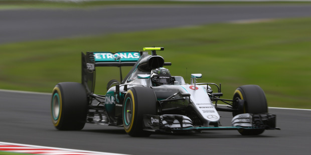 Nico Rosberg during final practice for the Formula One Grand of Japan. Photo / Getty Images