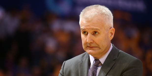 Kings coach Andrew Gaze reacts during the round one NBL match against Brisbane. Photo / Getty Images