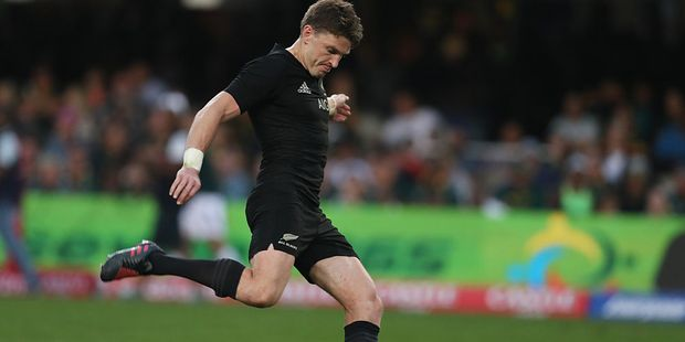 Player of the tournament Beauden Barrett, despite his occasional goal-kicking blunders. Photo / Getty