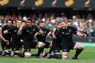 The All Blacks perform the haka during the The Rugby Championship match between South Africa and New Zealand at Growthpoint Kings Park in Durban. Photo / Getty Images