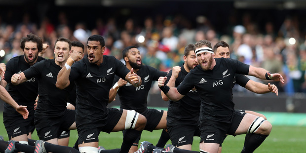 The All Blacks perform the haka against South Africa. Photo / Getty Images