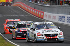 Scott McLaughlin leads Jamie Whincup and Garth Tander at the Bathurst 1000. Photo / Getty Images
