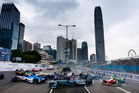 Mitch Evans driving the Panasonic Jaguar Racing car at the Formula E Hong Kong. Photo / Getty Images