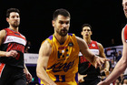 Kevin Lisch of the Kings drives to the basket against the Illawarra Hawks. Photo / Getty Images