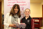 Woodford House student Clementine Coates meets her favourite author Stacy Gregg.