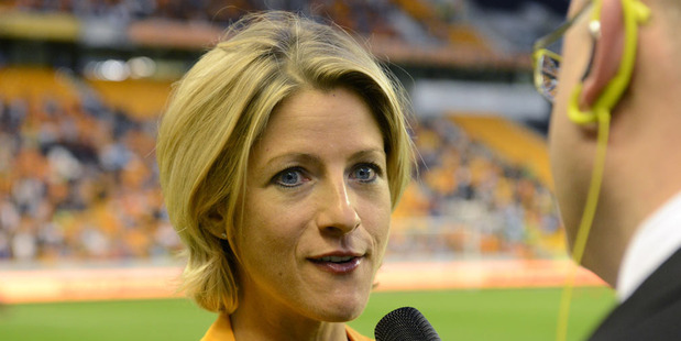"""Jacqui Oatley, the sports broadcaster, had to call the police after a football fan threatened to """"cut"""" her in abusive tweets, it has emerged. Photo / Getty Images."""