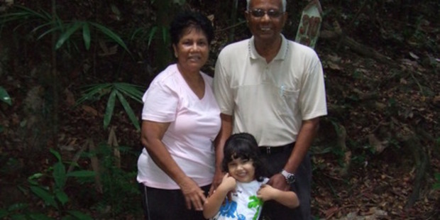 Maggie Renee Watson with her grandparents Clifford and Patricia Sen. Photo/supplied.
