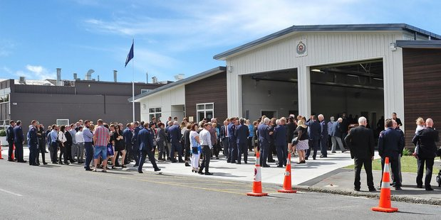 The official opening of the Rangiora Volunteer Fire Brigade's new station in March. Photo / Supplied