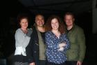 Actors (from left) Rachel Nash, Borni Te Rongopai Tukiwaho, Taimi Allan and Cameron Rhodes. Photo / Doug Sherring