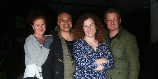 Loading Actors (from left) Rachel Nash, Borni Te Rongopai Tukiwaho, Taimi Allan and Cameron Rhodes. Photo / Doug Sherring