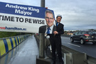 Andrew King's campaigning in Hamilton has paid off by a narrow margin. Photo / Facebook