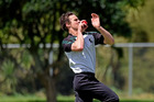 WINDING UP: Donovan Deeble took five wickets for Cadets in their win against Greerton at Waipuna Park. PHOTO/GEORGE NOVAK