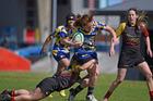 Tauranga Sports' player Laura Hardy carried the ball in the game against Waikato University. PHOTO/GEORGE NOVAK