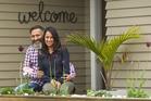 Raj Kumar and his wife Jagruti Vanesha Patel at their Springfield home.