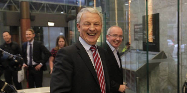 Loading ONE DOOR CLOSES: New Auckland Mayor Phil Goff swipes into the Auckland Council building on his first day of work. PHOTO/Nick Reed