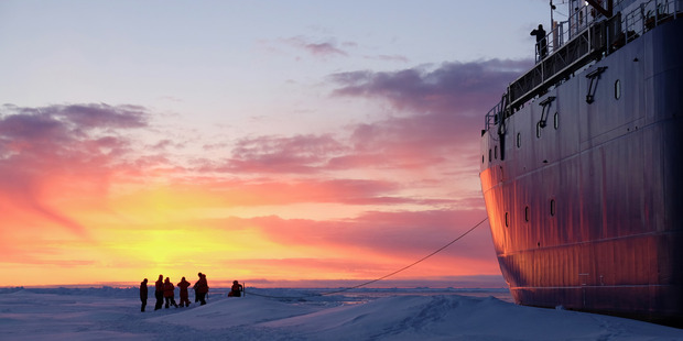 Loading This picture was taken at the end of a day measuring sea ice on the Arctic, winning the Our People section.  Photo / Alison Kohout