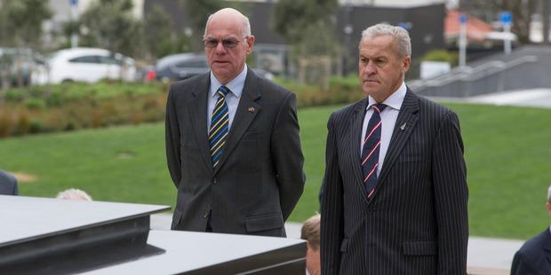 Loading Norbert Lammert, left, and  David Carter in Wellington today. Photo / Mark Mitchell
