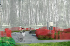 Plans by Kiwi landscape architecht Cathy Challinor for a memorial garden at Passchendaele in Belgium. Photo / Supplied