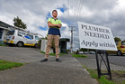 Quinn Armit of Kingfisher Plumbing is struggling to find a plumber to hire. PHOTO/GEORGE NOVAK