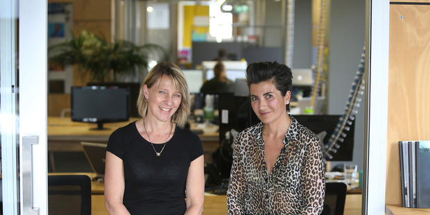 COWORKING: Sharing space works, say Susanne Irwin (left) from Ignition and Pascale Hyboud-Peron from the Basestation. PHOTO/JOHN BORREN